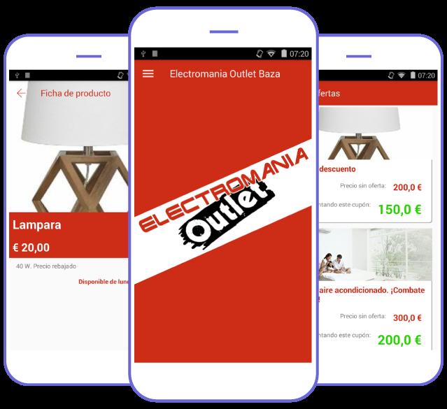 App Electromanía, uno de los ejemplos de app creada con Crea Tu Aplicación
