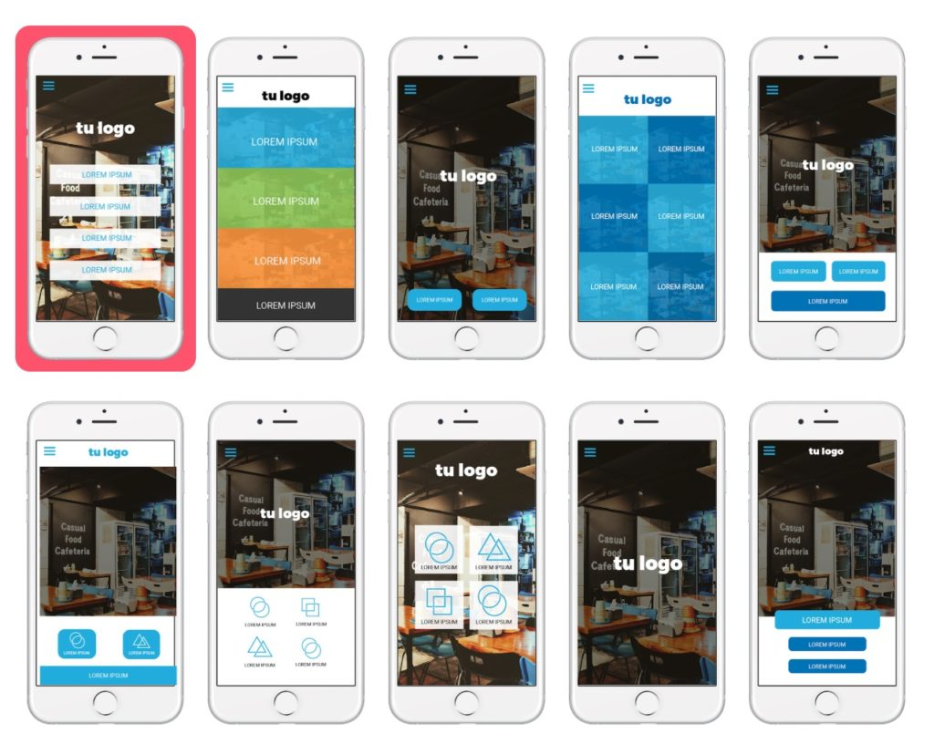 Diseñar tu app, pantalla inicial
