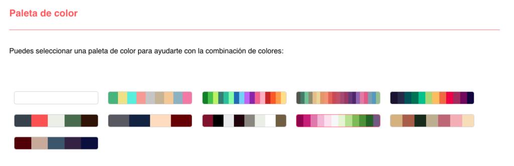 Diseñar tu app, paleta de colores
