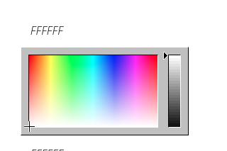 Ventana para añadir el color de la app